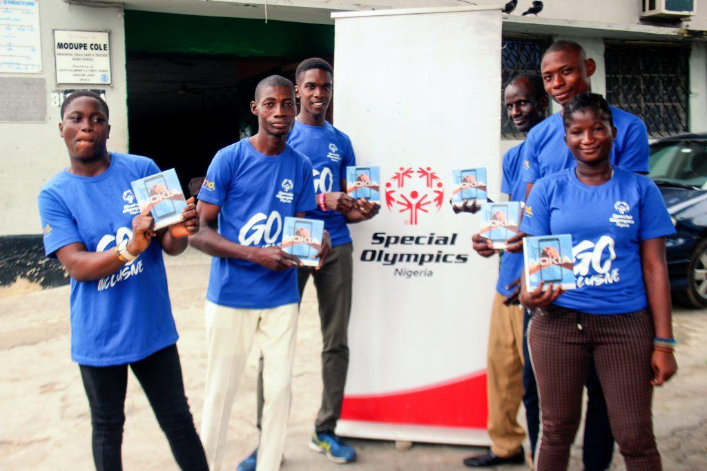 Special Olympics Nigeria Athletes with their Nokia C1 phones